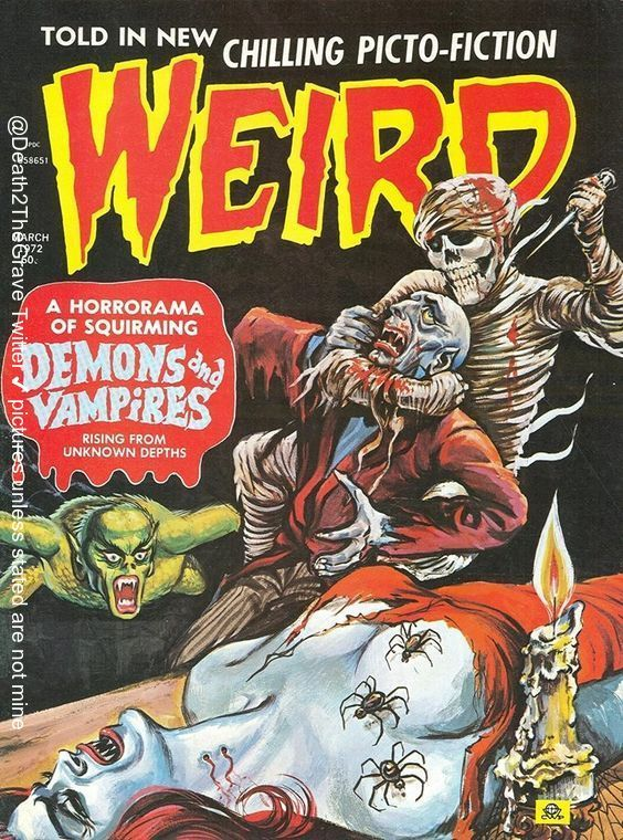 #weird #horrorcomics #horrormagazine #eeriepublications #horrorart #pulpart #horrorpulpart #horrorpulp #trashymags