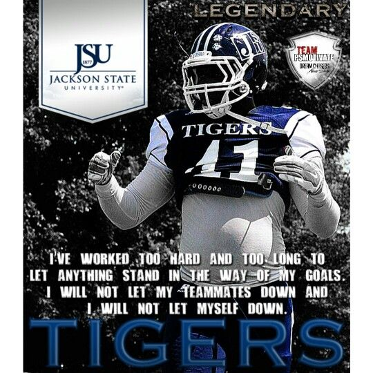 Jackson State Linebacker Ted Terrell 41 Psmotivate Jackson State Jackson State University College Football Players