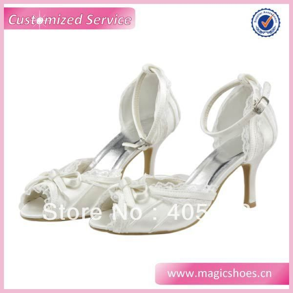Free/Drop Shipping Ivory Lace Peep Toe Bridal Shoes Wedding Sandals Ladies $43.60 - 44.60