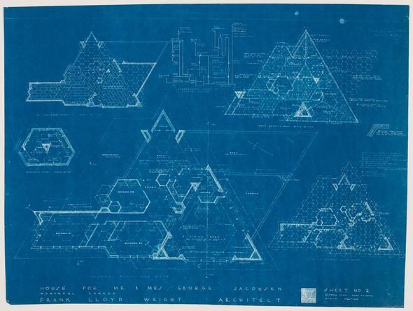 A Frank Lloyd Wright drawing | Canadian Centre for Architecture (CCA)
