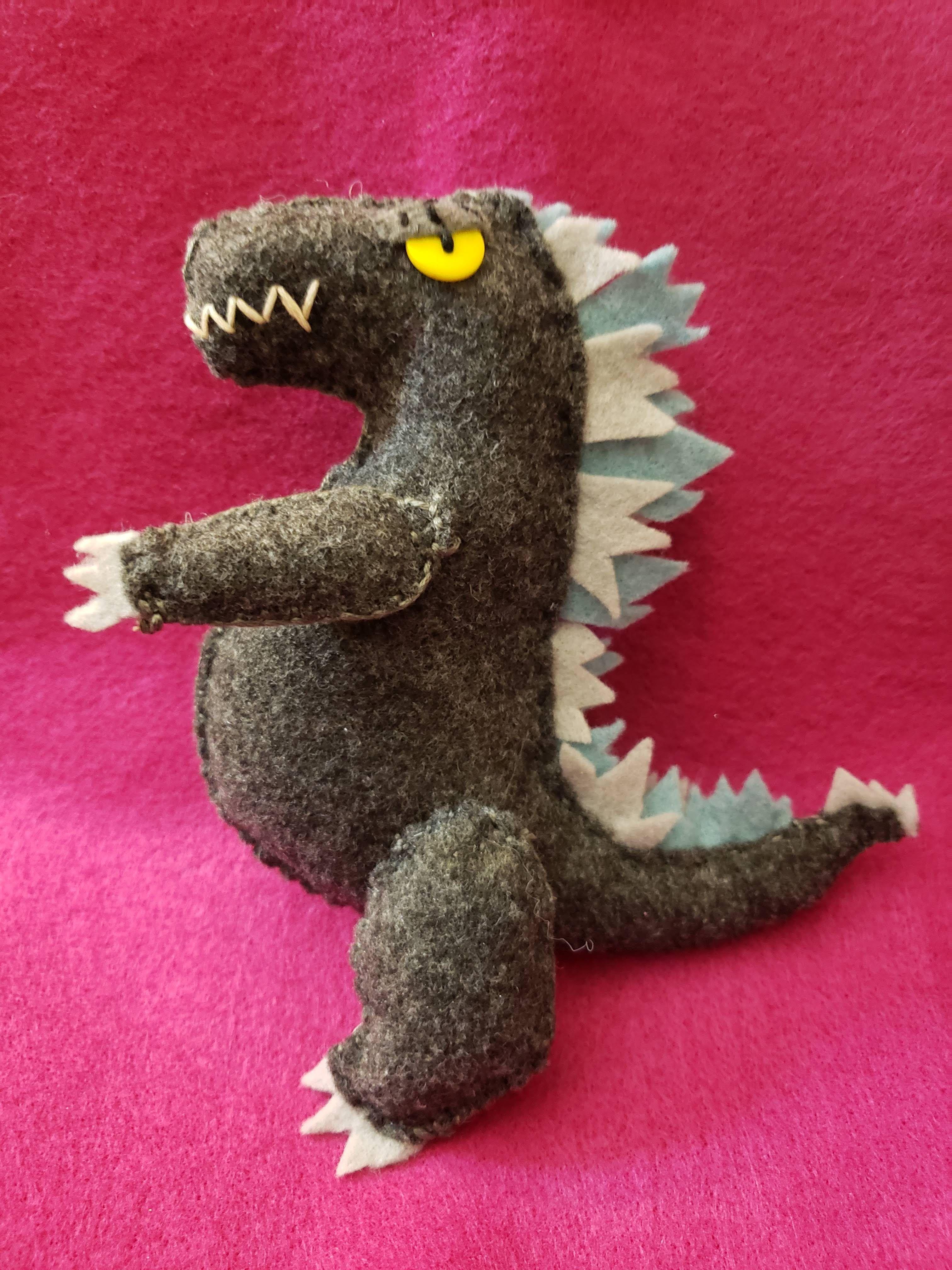 Godzilla Stuffie Manualidades Fieltro Manualidades Fieltro