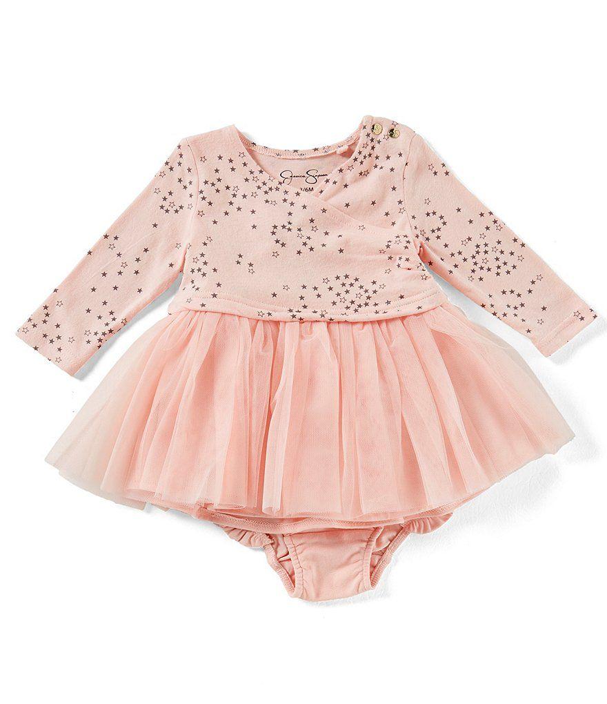 Jessica Simpson Baby Girls Newborn-9 Months Star-Print Mesh Dress ...