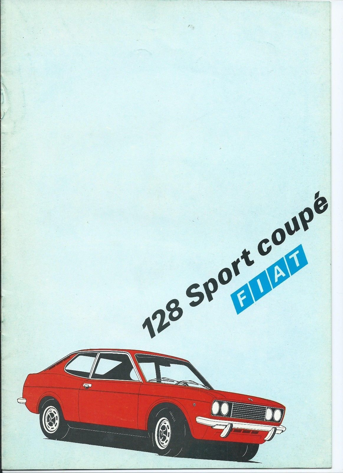 Nice Brochure For The Fiat 128 Sport Coupe 16 Pages Of Photographs