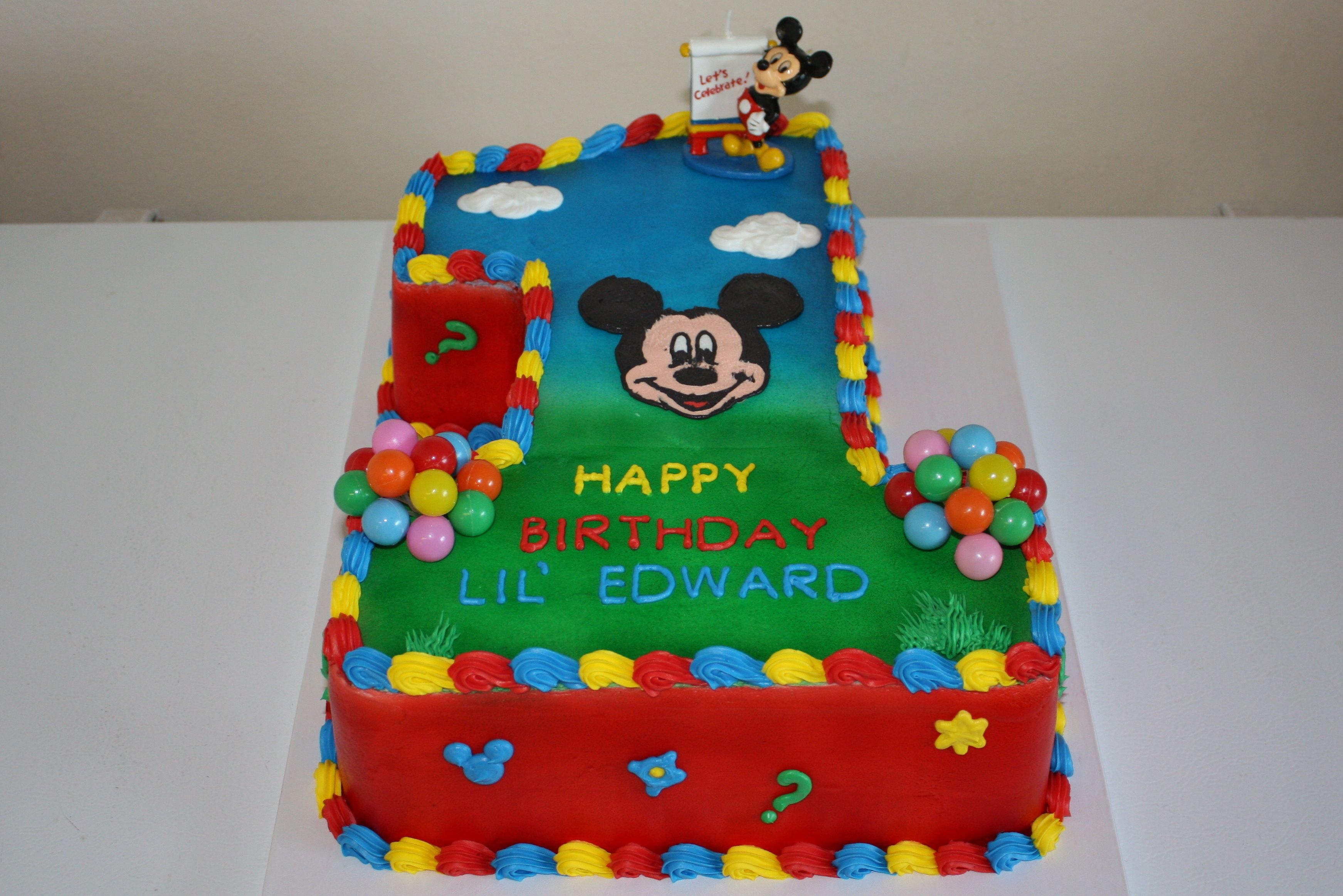 Mickey Mouse Clubhouse 1st Birthday Cake With Images Mickey