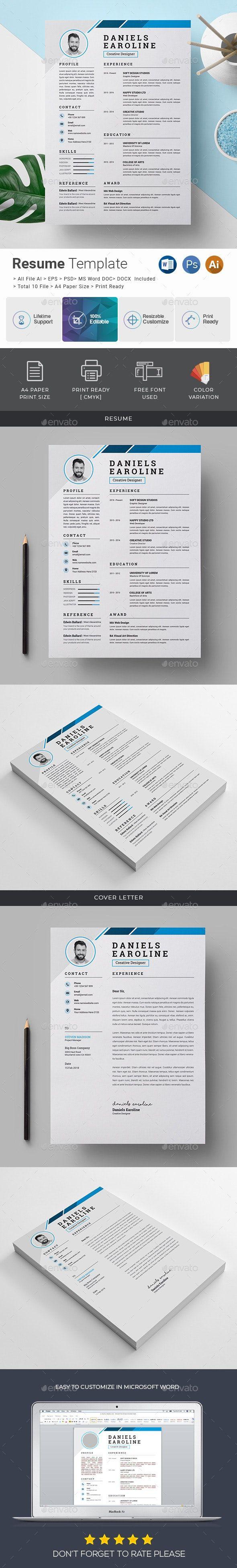 Resume / CV AD Resume, spon, CV Resume template, Web