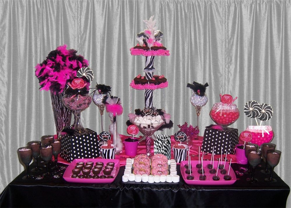 Amanda Joy Candy Gallery Hot Pink Candy Candy Buffet Party White Candy Bars