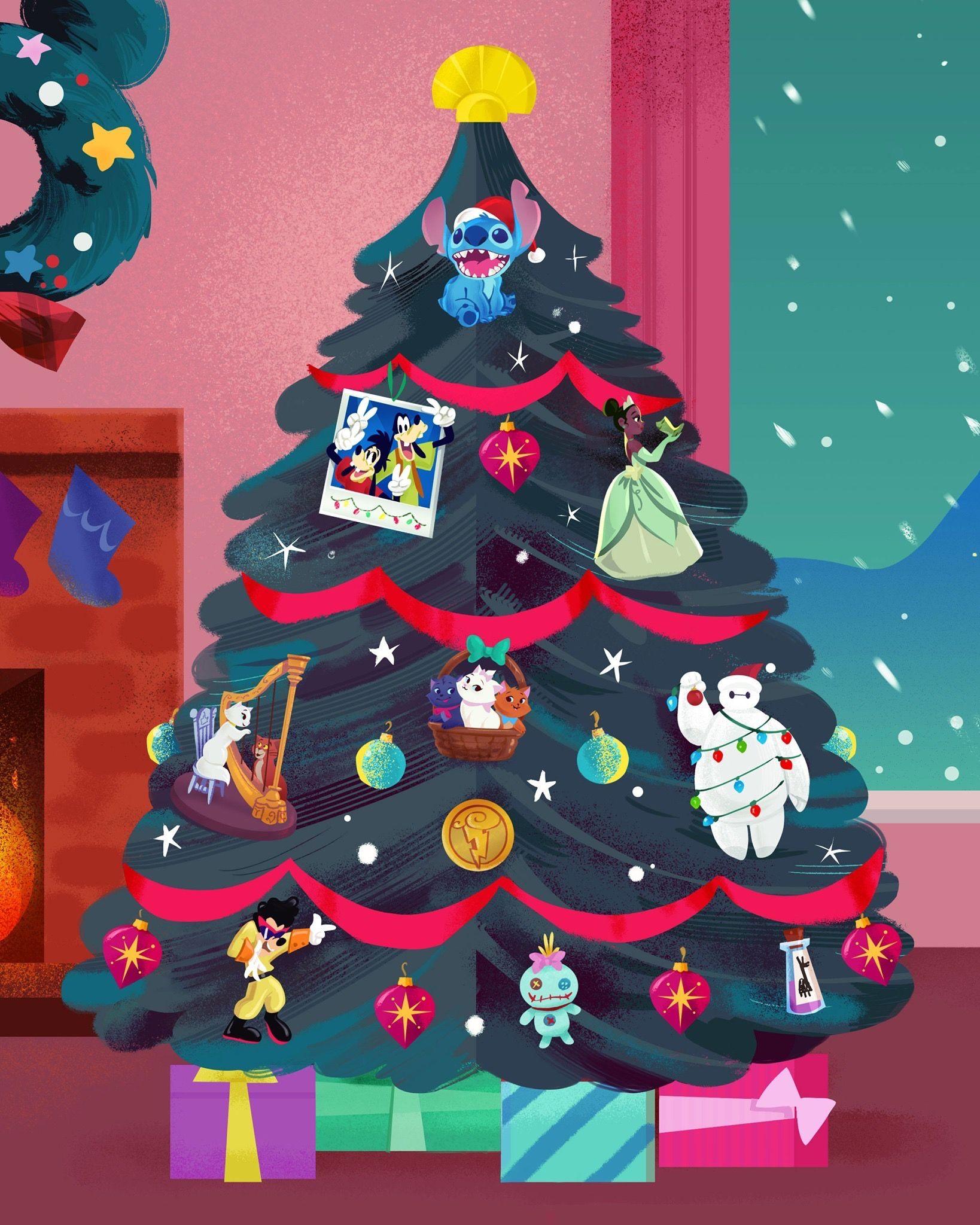 Pin By Wm On Disney Christmas Wallpaper