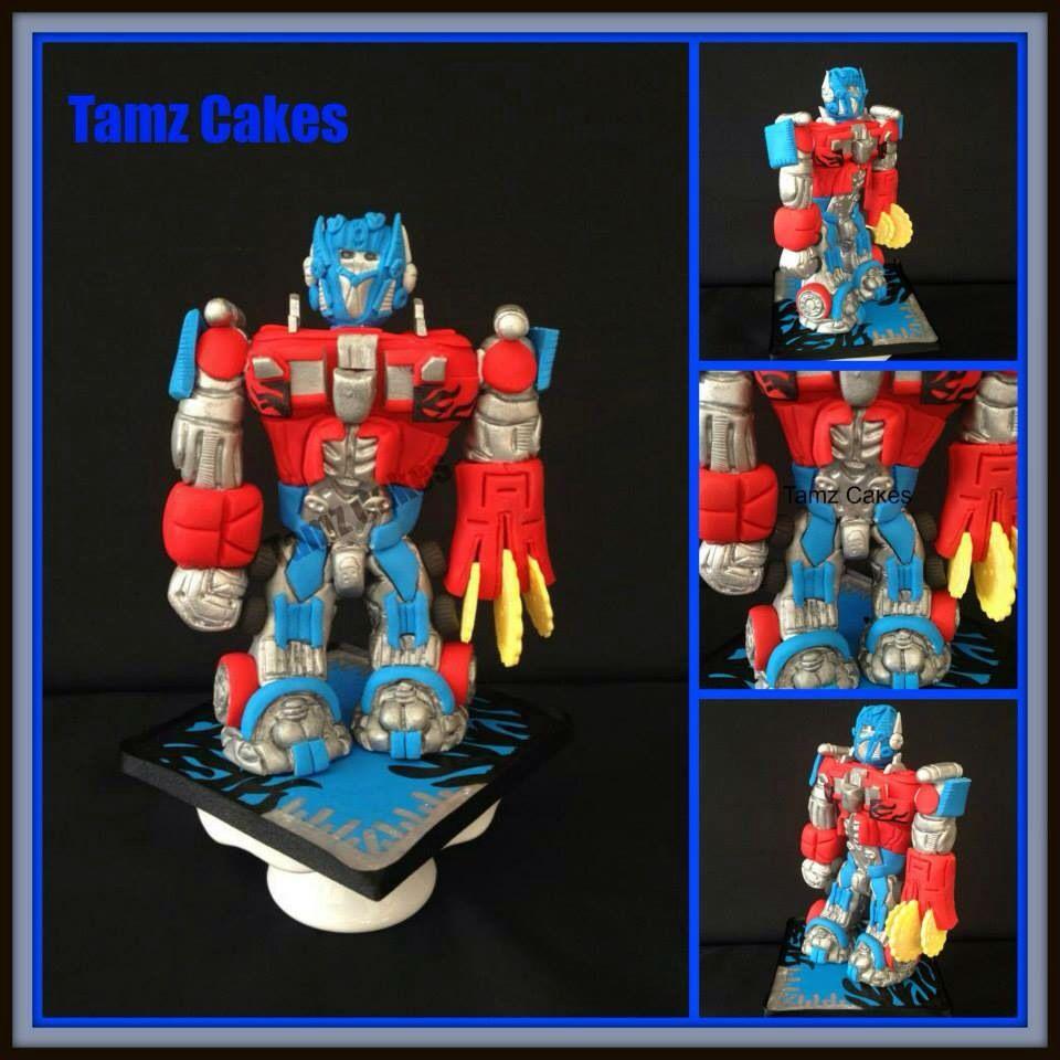 Optimus Prime cake topper | Optimus prime cake, Cake ...
