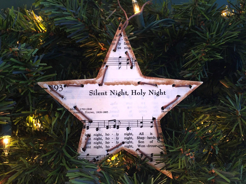 Christmas Music Ornament Christmas Hymn Ornament Sheet Music Etsy Music Christmas Ornaments Music Ornaments Sheet Music Ornaments