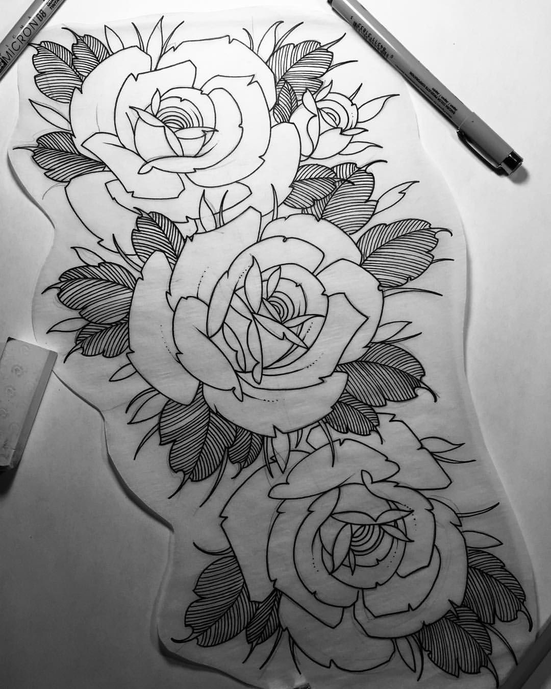 Floral piece i have available to be tattooed it would