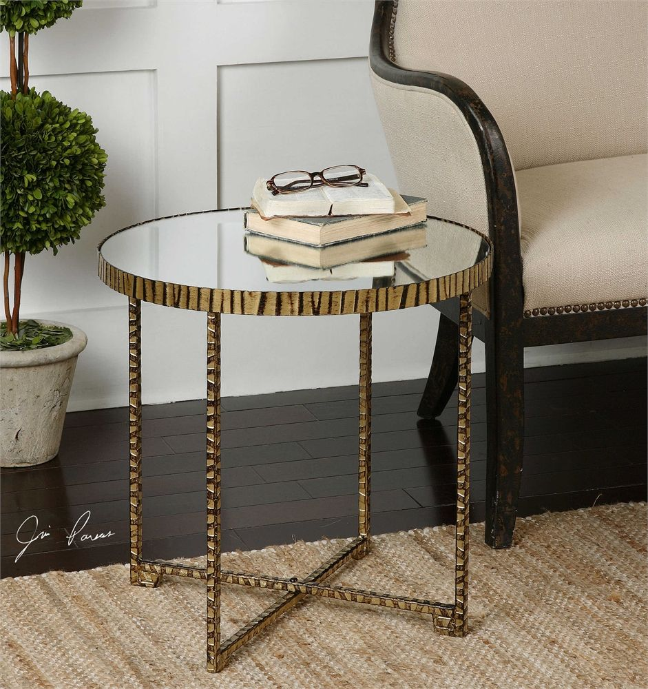 Uttermost Myeshia Round Accent Table Side tables Pinterest