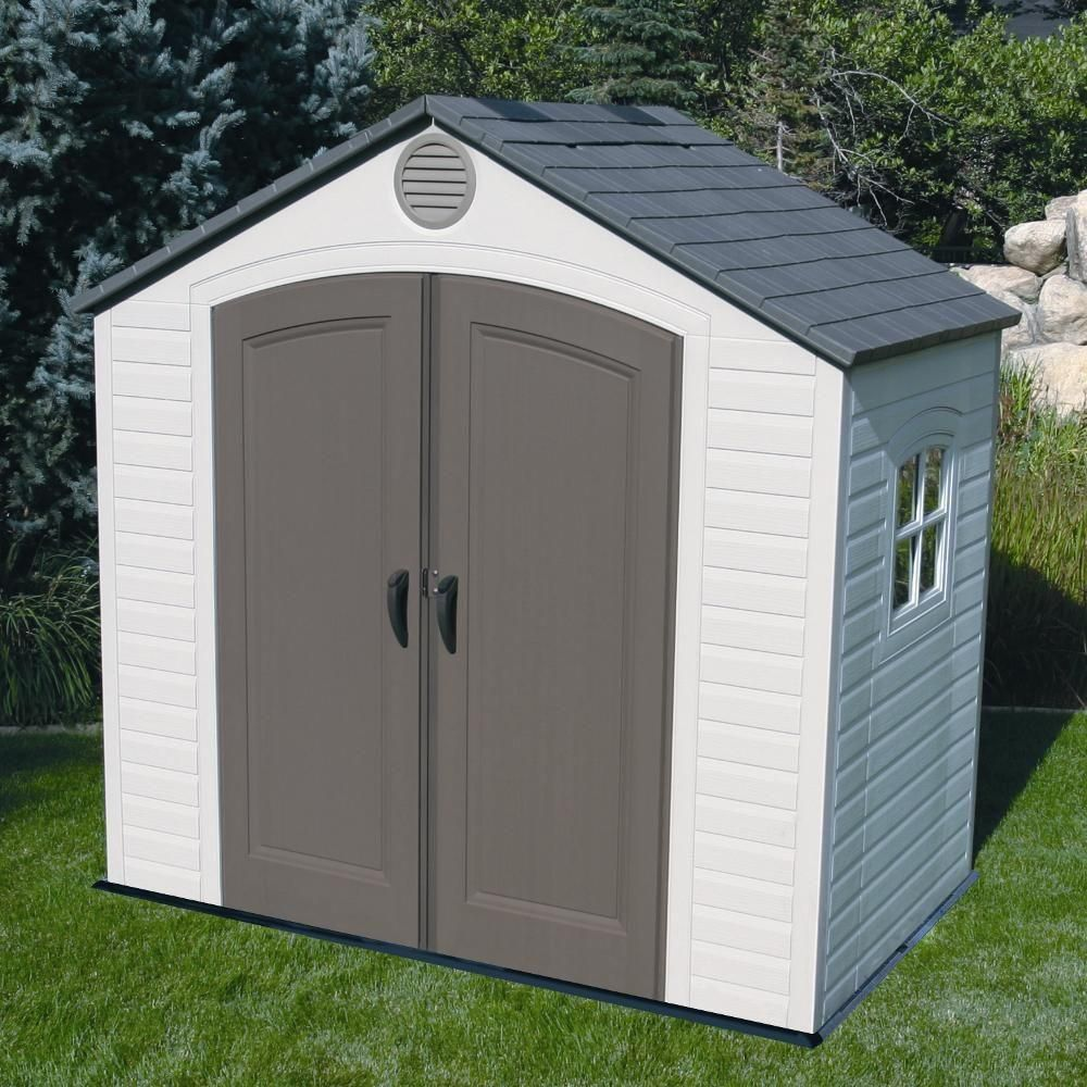 Lifetime 8 Ft X 5 Ft Outdoor Storage Shed 6406 The Home Depot Outdoor Storage Buildings Plastic Storage Sheds Shed Storage