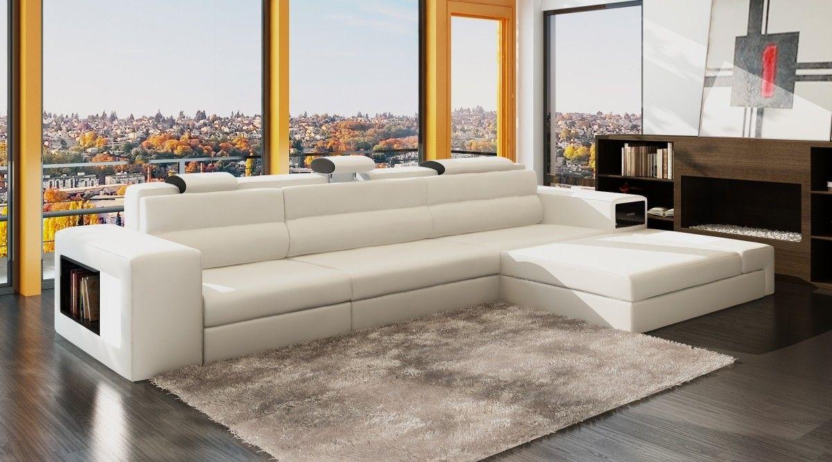Astonishing Polaris Mini White Bonded Leather Sectional Sofa Living Creativecarmelina Interior Chair Design Creativecarmelinacom