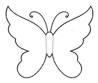 Kolay Kelebek Resmi Cizimi Kelebekler Boyama Sayfalari Cizim
