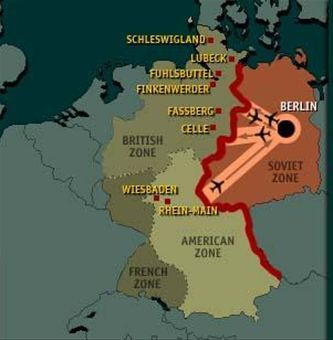 Map of occupation zones and air corridors during Berlin ... Map Of Berlin After Cold War on map of europe cold war, nato cold war, berlin wall map cold war, map of berlin world war 2, map of warsaw pact cold war,
