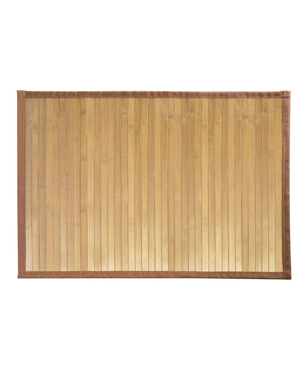 Light Wood Formbu Bamboo Floor Mat Bamboo Bath Mats