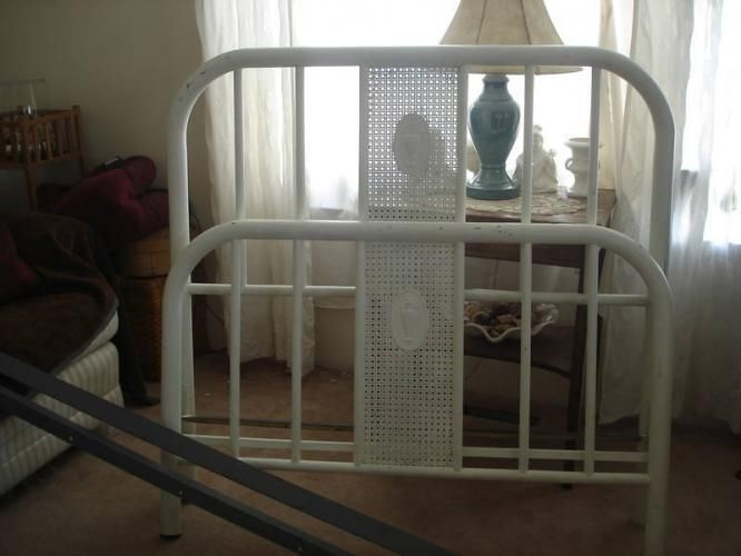 Vintage Metal Bed Simmons Painted White Bed Frames For Sale
