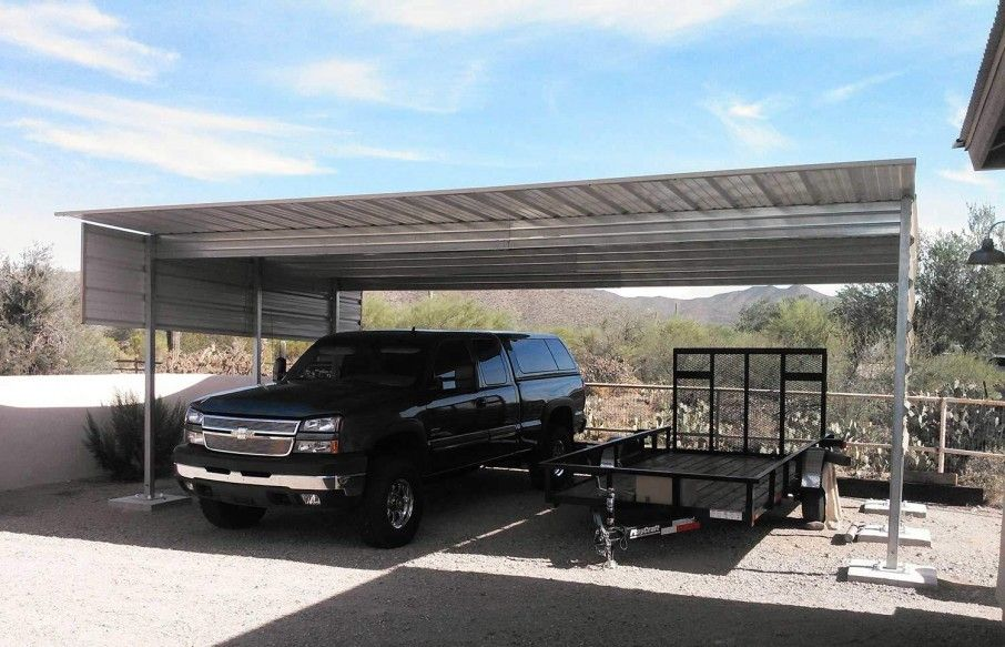 Single Slope Carport Kits in 2020 Building a patio