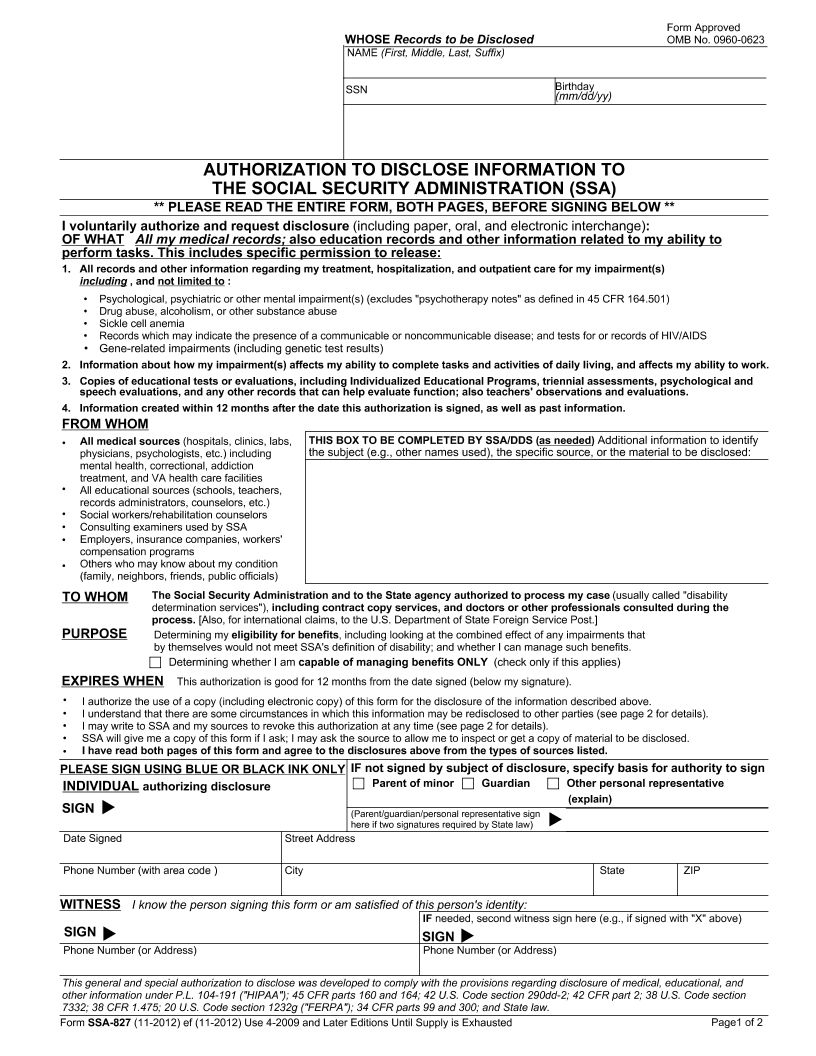 Sign Document  Social Security    Social Security And