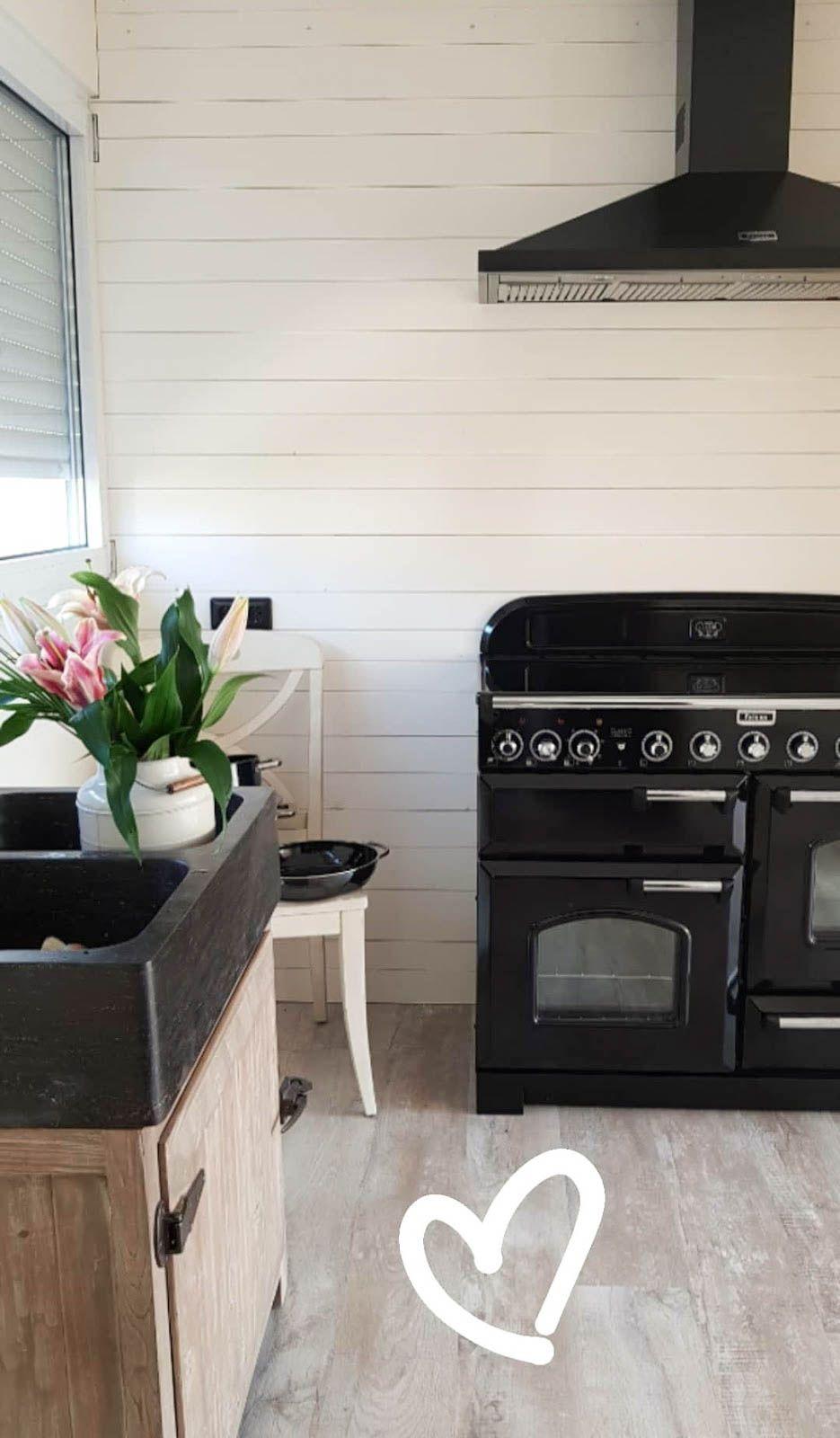 Küche Renovierung Landhaus Herd Rangecooker Diy Holzwand Mein Blog