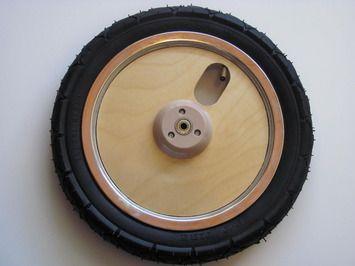 Skuut Balance Bike Complete Wheel Assembly (Assembly is tire, tube & wooden hub)