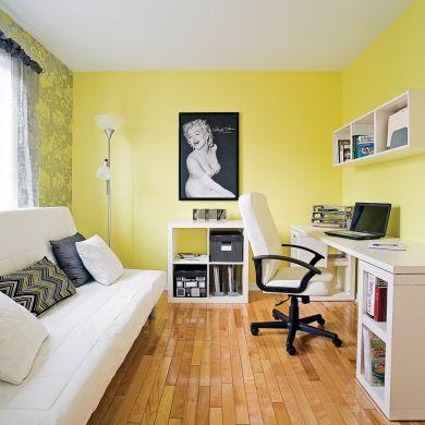 Cohabitation du coin bureau et de la chambre du0027ami - Chambre - Avant