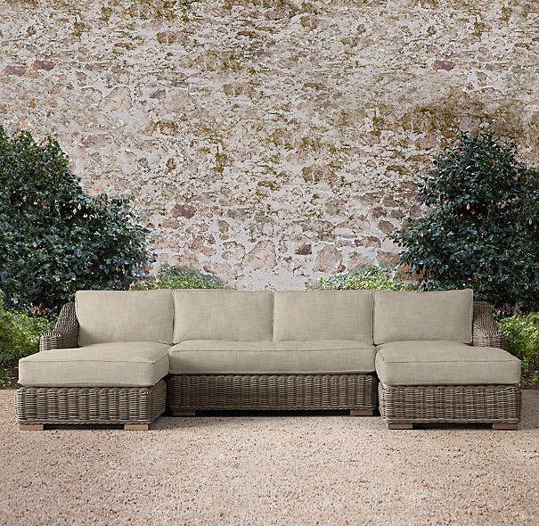 Provence Classic U Chaise Sectional Sectional Outdoor Sectional Sofa Outdoor Sofa
