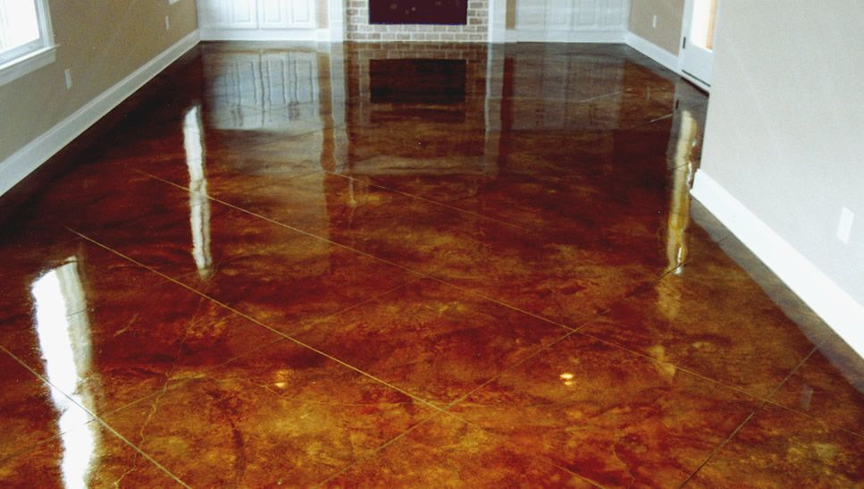 Stained concrete floors 1 on pinterest stained concrete for What to clean concrete floors with