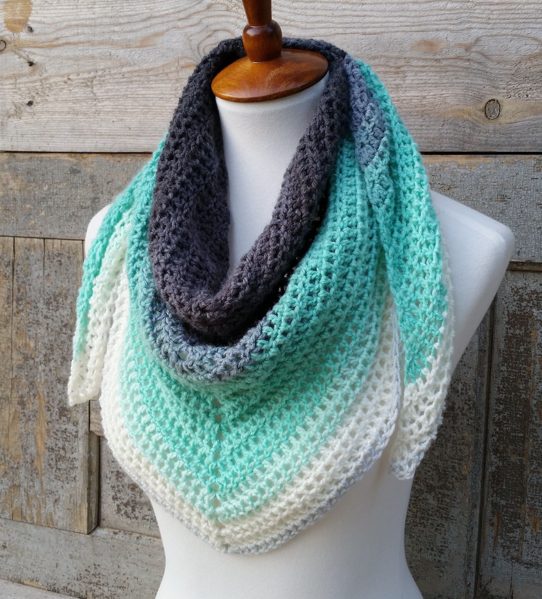Mandala Triangle Scarf Crochet Pattern One Skein Crochet Etsy Scarf Crochet Pattern Triangle Scarf Crochet Pattern One Skein Crochet