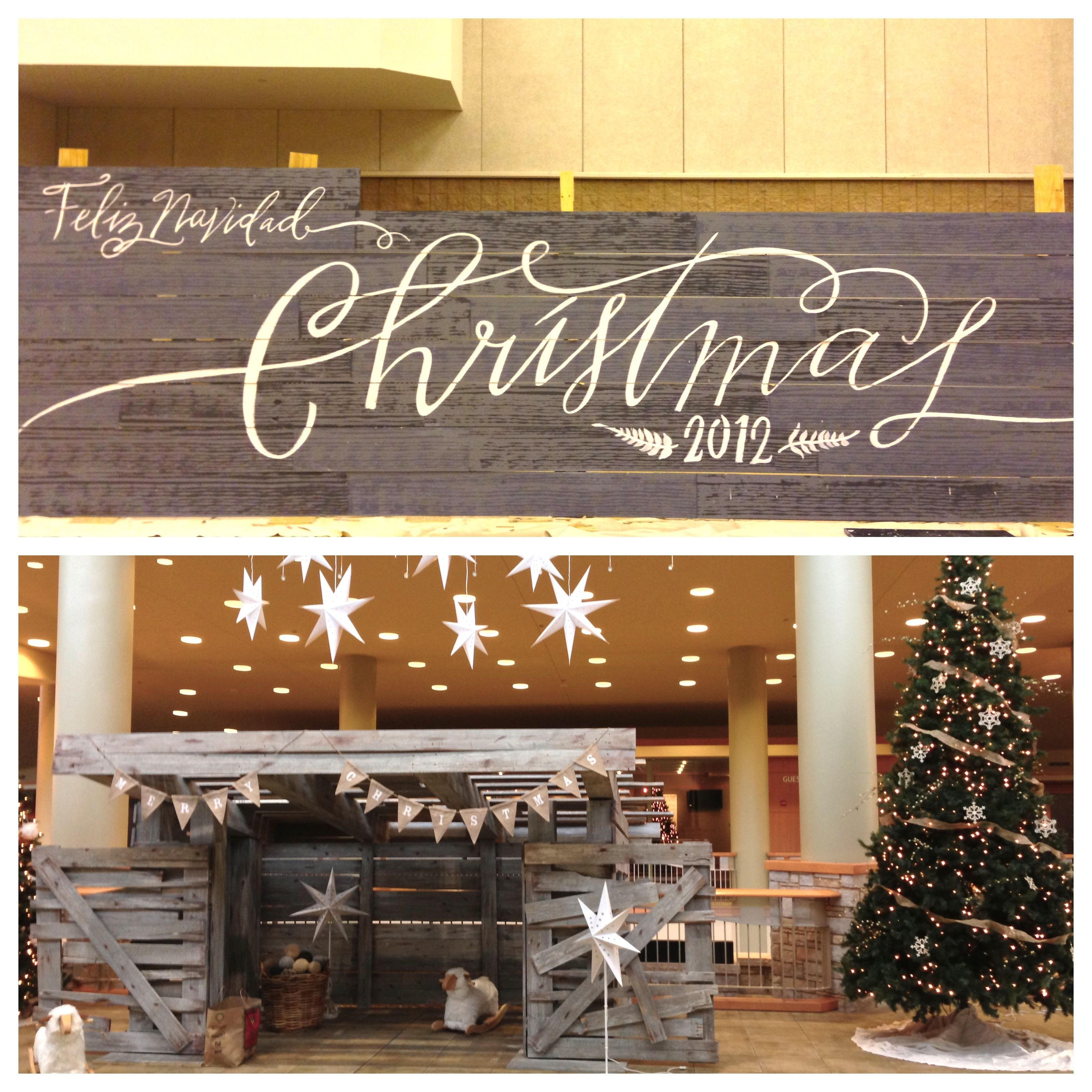 Christmas Church Decoration: Getting Ready For Christmas At Willow Creek. 11/29/12