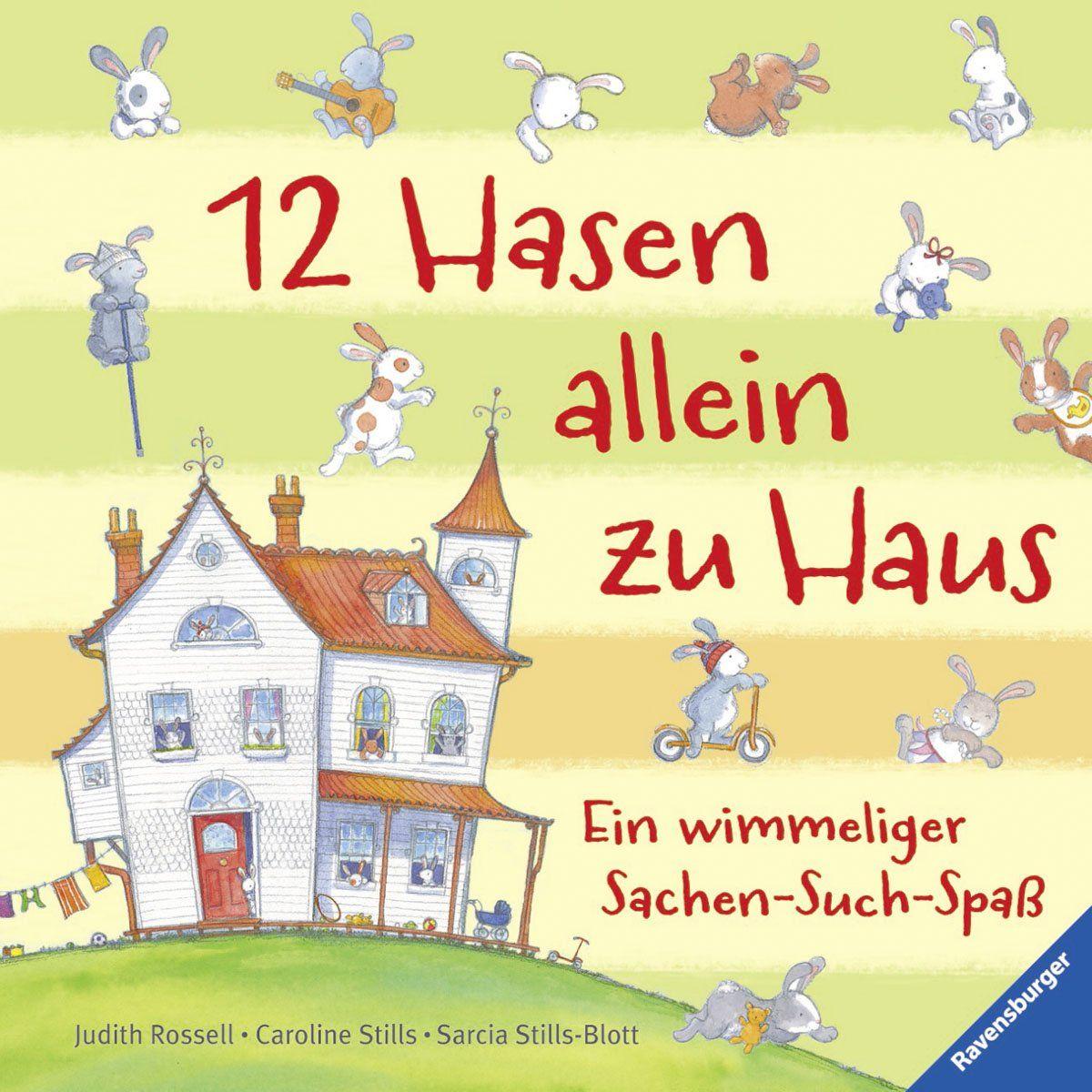 12 Hasen allein zu Haus: Ein wimmeliger Sachen-Such-Spaß: Amazon.de ...