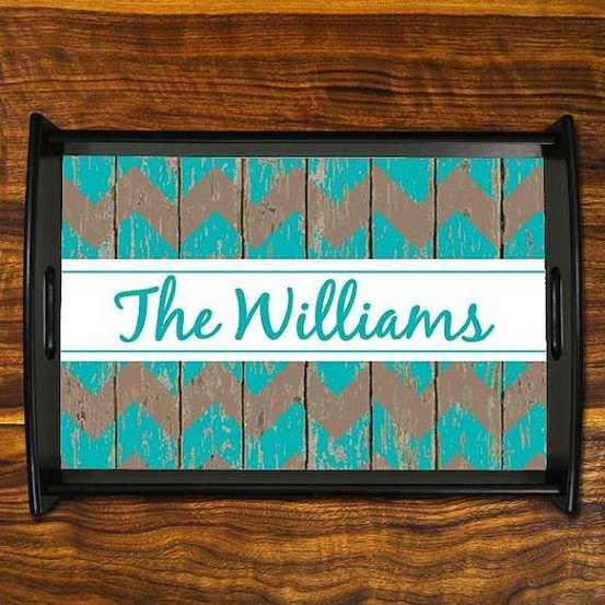 Personalized Serving Tray from Etsy