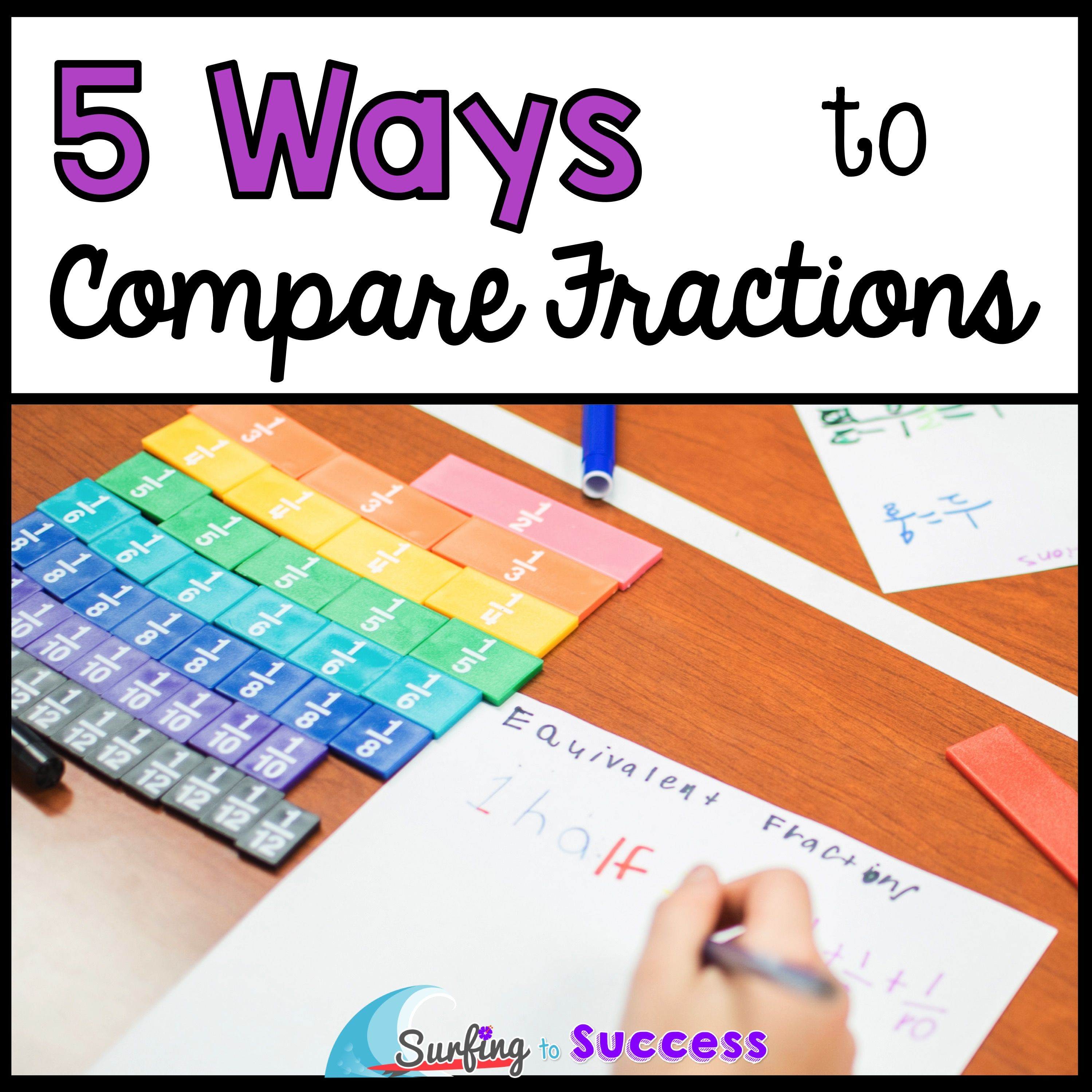 5 Ways to Compare Fractions. Fourth Grade ...