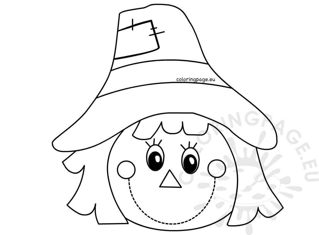 22 Beautiful Image Of Scarecrow Coloring Page Scarecrow Face