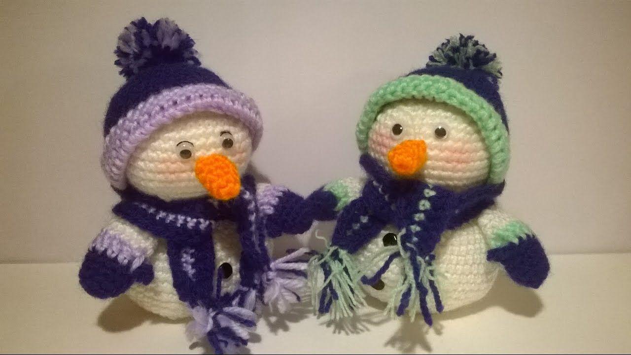 Tutorial Elfi Amigurumi : Pupazzo di neve uncinetto amigurumi tutorial snowman crochet