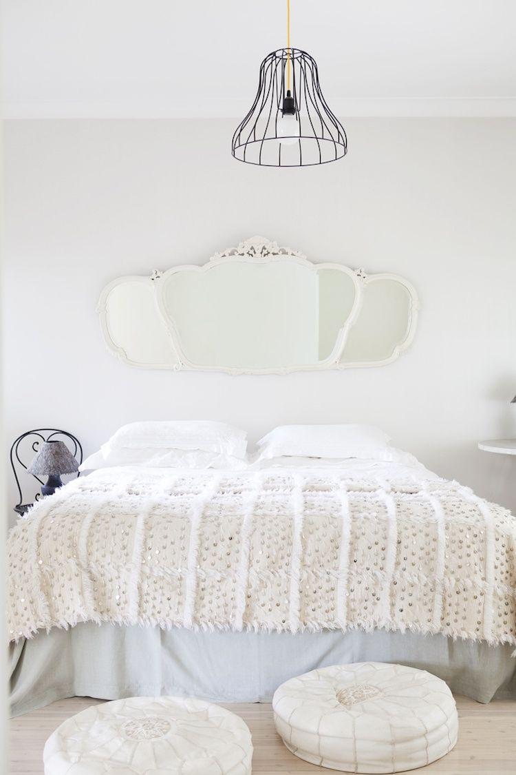 Bohmisches Weisses Schlafzimmer Und Voller Charme Um Sich Ein