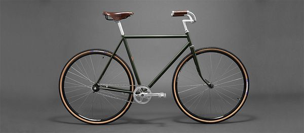 15cf6613452 Handcrafted single speed bike made in Brooklyn. Brooks leather saddle and  grips. Personalize your trusty steed by engraving the copper badge.
