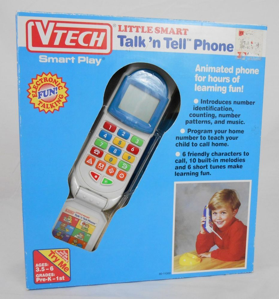 5c1dabeab805 VTech Talk N Tell Toy Phone Vintage Cell Flip Phone NEW Works Sounds Kids   VTech  collectibletoy  htf