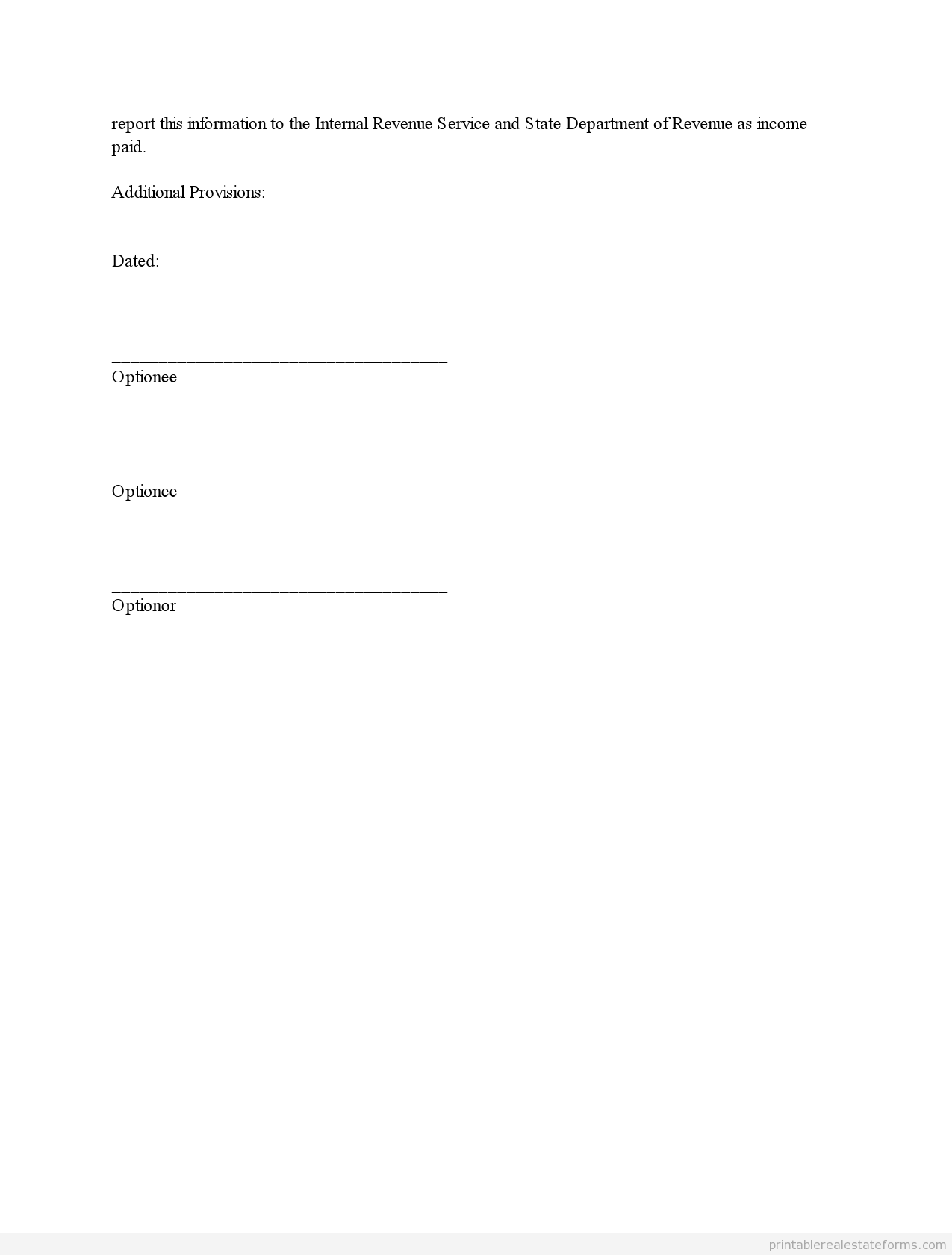 Sample Printable Repair Addendum  Form  Sample Real Estate Forms