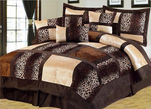 suede comforter sets king California King Waterbed Comforter Sets | Piece Cal King Leopard  suede comforter sets king