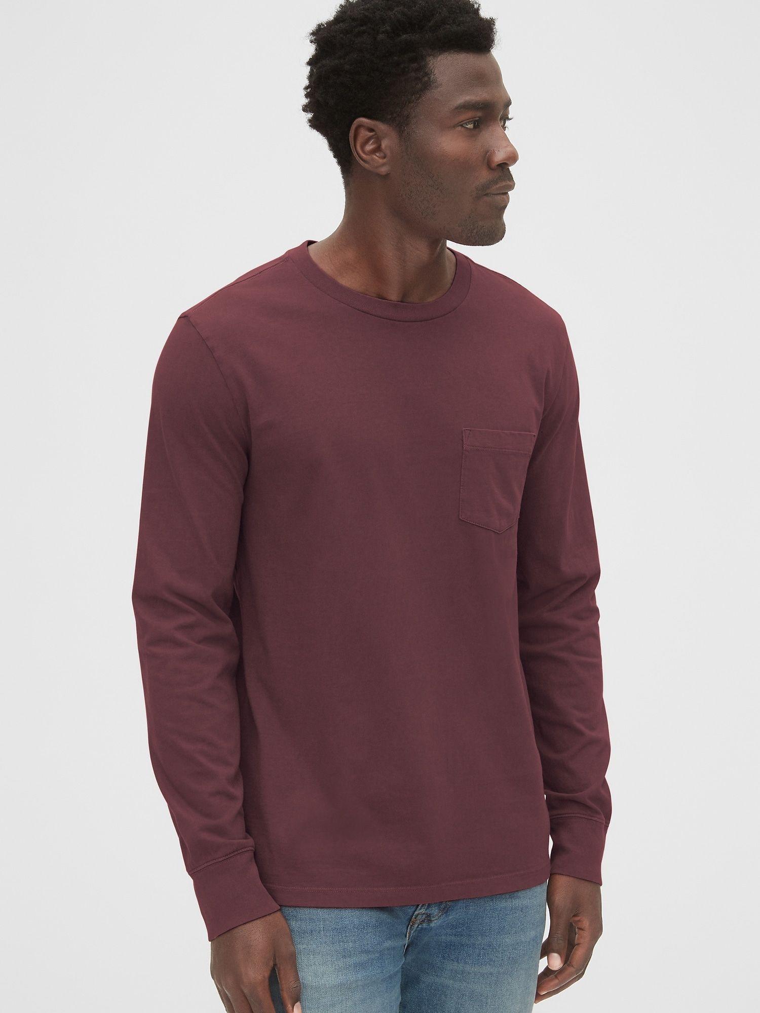 Long Sleeve Pocket T Shirt Long Sleeve Mens Tops Gap Men