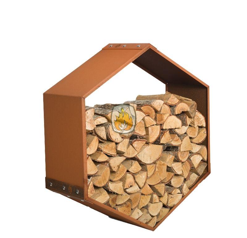 Harrie Leenders Woodbee Wall | tuinhaardenwinkel.be de Harrie Leenders Woodbee Wall maakt van brandhout opslag een muurdecoratie.  Met de Woodbee van Harrie Leenders was er al een originele opslag voor uw brandhout. Toch kon het nog origineler, want wat vindt u van deze houtopslag die aan de muur komt te hangen ?