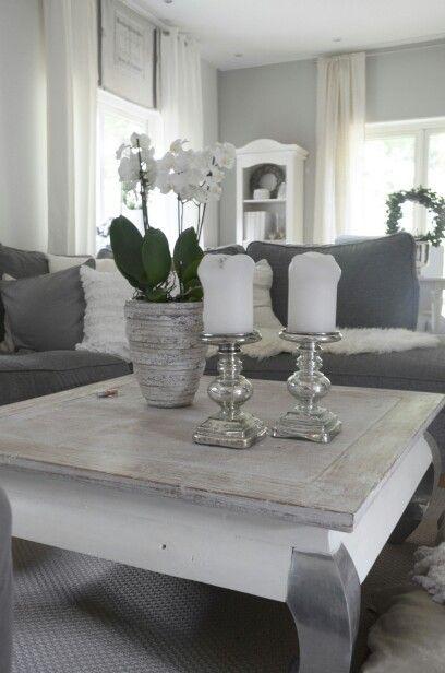 Wohnzimmer grauwei  Living Room  Wohnzimmer grau wei