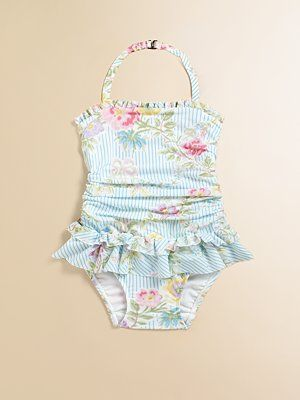 51d0e56a9d Darling and classic. Love this ruffled Ralph Lauren swimsuit ...