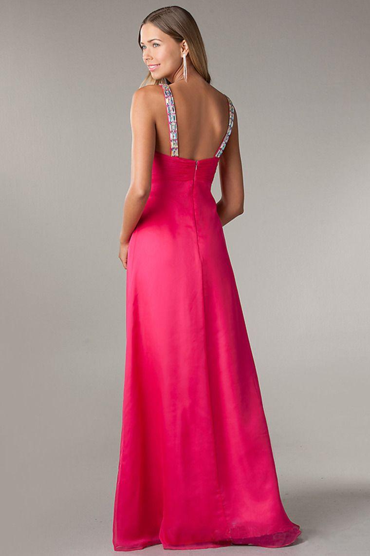 Empire waist floor length v neck sleeveless dress new