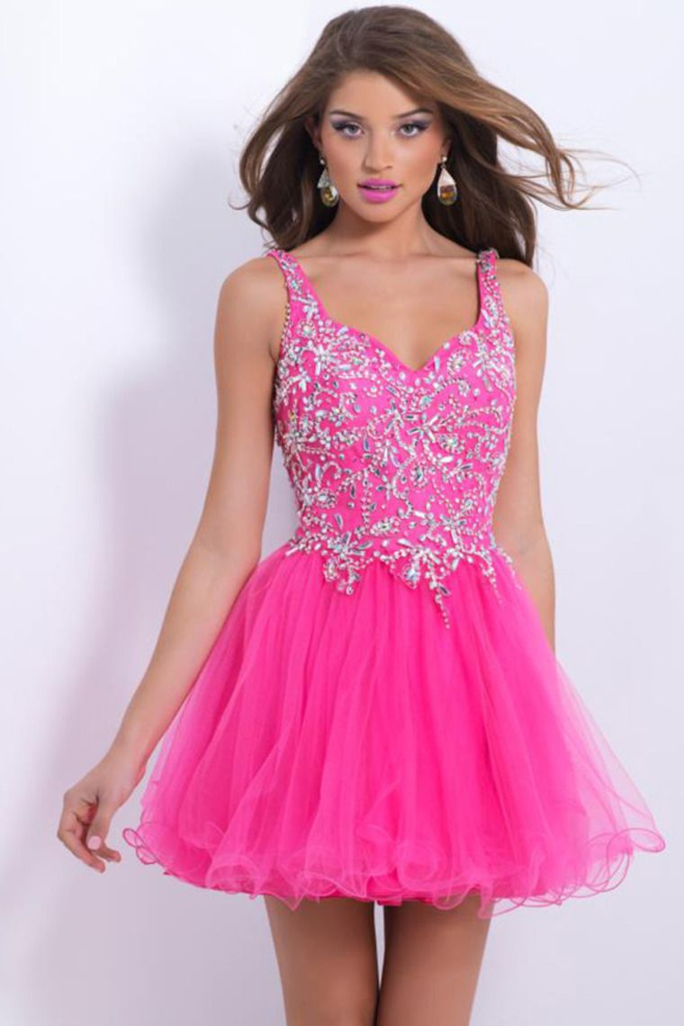 2014 Fashion Straps Short/Mini Homecoming Dress A Line With Tulle ...