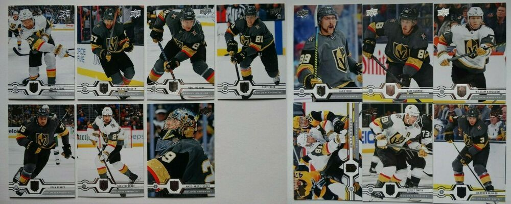 2019 20 Upper Deck Ud Vegas Golden Knights Series 1 2 Team Set 13 Hockey Cards Ebay In 2020 Hockey Cards Baseball Cards Hockey