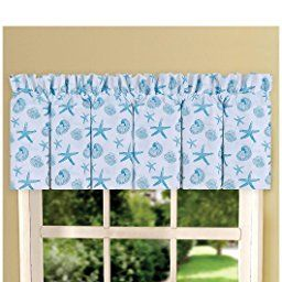 Amazon Com C F Home Cora Blue Valance 15 5x72 Coastal Theme Home Kitchen Diy Curtains C F Home Home