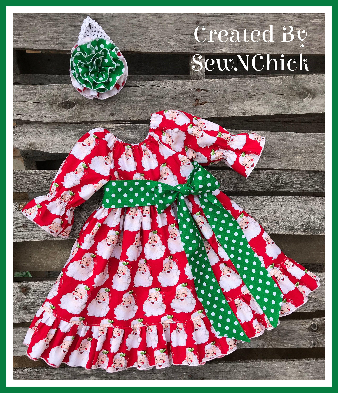 3t Christmas Santa Dress Free Shipping Etsy In 2020 Santa Dress Peasant Style Dress Dresses [ 3000 x 2576 Pixel ]