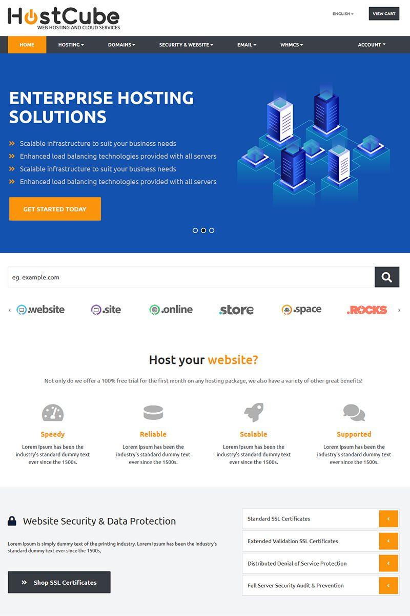 HostCube WHMCS Website Template | Axes | Website template
